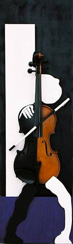 Violin Poster featuring the sculpture Soul Of Music by Steve Karol