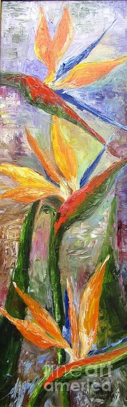 Birds Of Paradise Poster featuring the painting Birfds of Paradise by Barbara Haviland