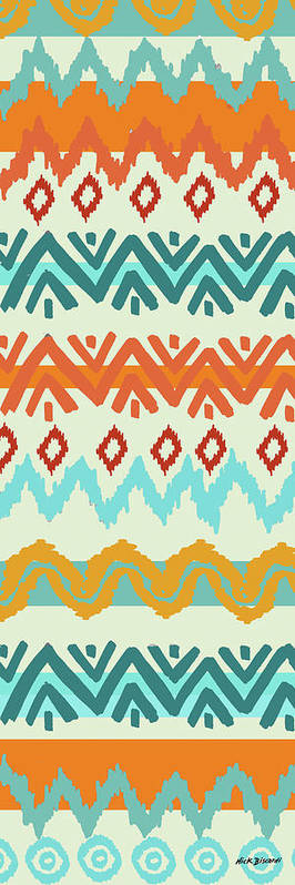 Navajo Poster featuring the digital art Southwest Pattern I by Nicholas Biscardi