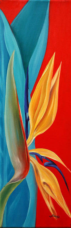 Flower Poster featuring the painting Bird Of Paradise2 by Elsa Gallegos
