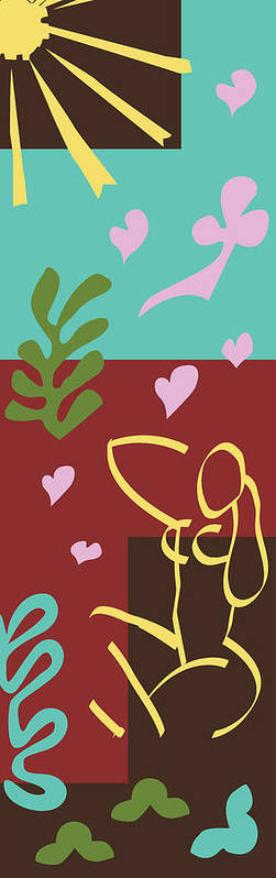 Henri Matisse Poster featuring the painting Health - Celebrate Life 3 by Xueling Zou