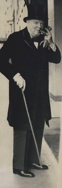 retro Images Archive Poster featuring the photograph Mr. Churchill Calls On King Frederick Of Denmark At by Retro Images Archive