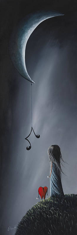 Art Poster featuring the painting They Feel Your Love Song - Surreal Art By Shawna Erback by Shawna Erback