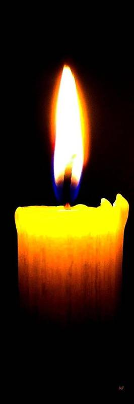 Candle Poster featuring the photograph Candle Power by Will Borden