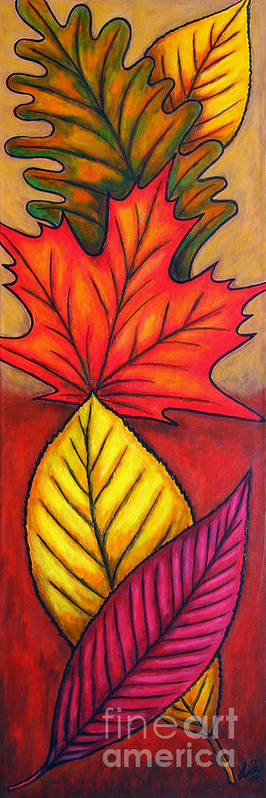 Autumn Poster featuring the painting Autumn Glow by Lisa Lorenz