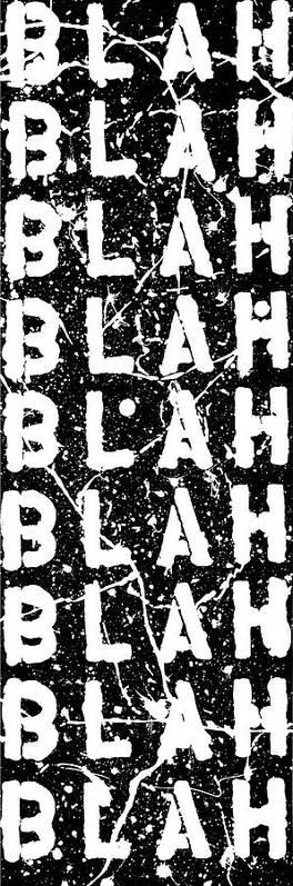 Blah Blah Blah Poster featuring the painting Blah Blah Blah by Ducksy
