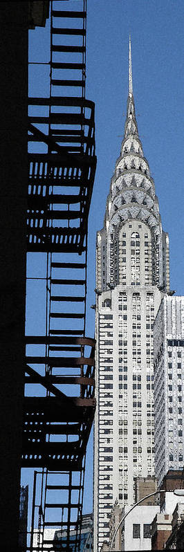 Chrysler Building Poster featuring the photograph New York Watercolor 3 by Andrew Fare