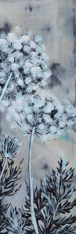 Queen Anne's Lace Poster featuring the painting Queen's Lace 2 by Holly Donohoe