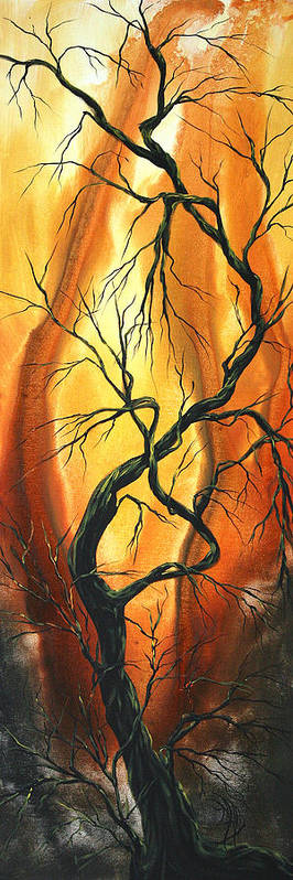 Abstract Poster featuring the painting Striving To Be The Best By Madart by Megan Duncanson