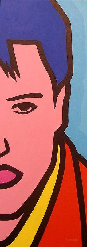 Elvis Presley Poster featuring the painting Elvis Presley by John Nolan