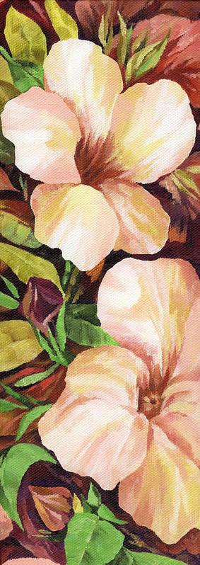 Mandevilla Poster featuring the painting Mandevilla by Natasha Denger