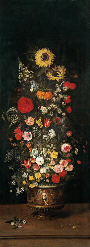 Baroque Poster featuring the painting Flower Vase by Jan Brueghel the Elder