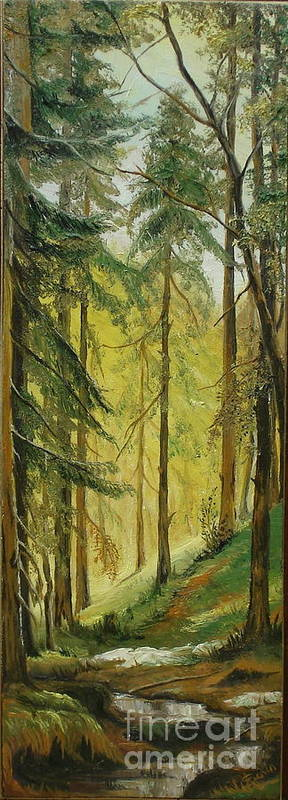 Spring Poster featuring the painting Spring by Sorin Apostolescu