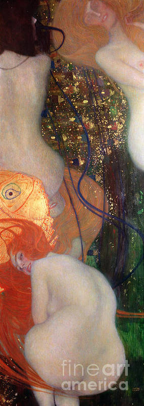 Fish Poster featuring the painting Goldfish by Gustav Klimt