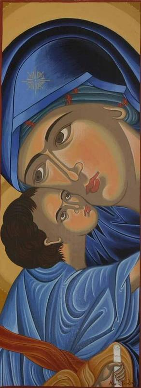 Marinella Owens Poster featuring the painting Motherlove by Marinella Owens