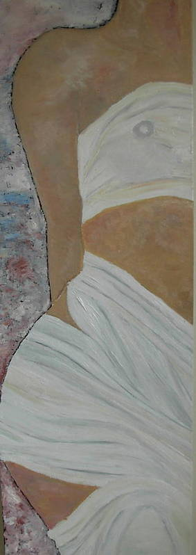 Venus Poster featuring the painting Nude In Spa by Dorota Nowak