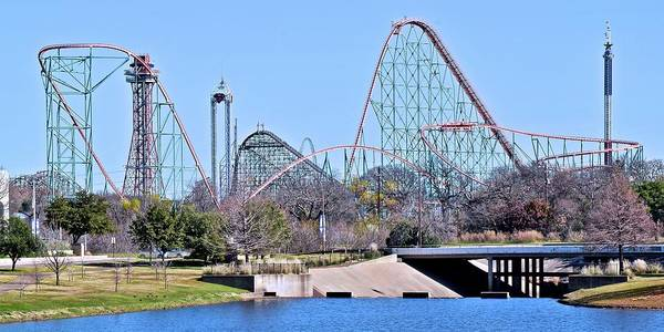 Six Flags Dallas Fort Worth by Frozen in Time Fine Art Photography