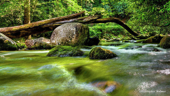 Christopher Holmes Photography Poster featuring the photograph Mountain Stream by Christopher Holmes