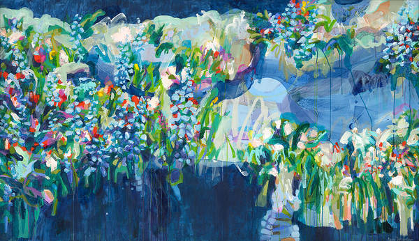 Abstract Poster featuring the painting Full Bloom by Claire Desjardins