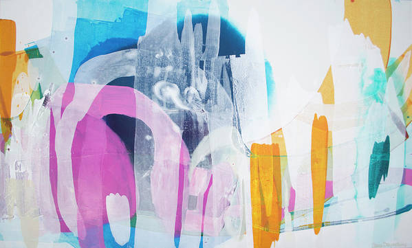 Abstract Poster featuring the painting Icing On The Cake by Claire Desjardins