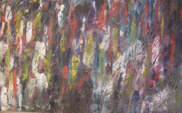Abstract Poster featuring the painting Jungle Spirits by Don Phillips