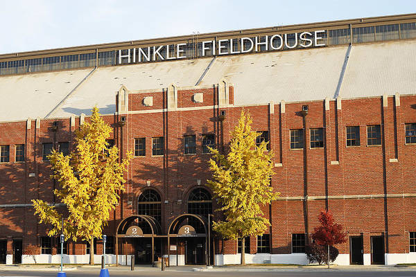 Butler Poster featuring the photograph Butler Bulldogs Hinkle Fieldhouse In The Fall by Replay Photos