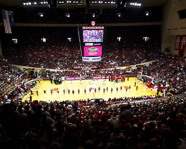 Indiana Poster featuring the photograph Indiana Hoosiers Assembly Hall by Replay Photos