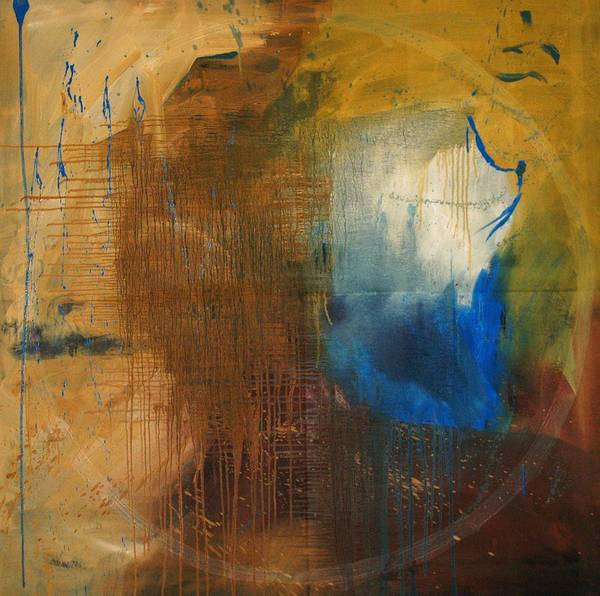 Abstract Poster featuring the painting Me - Abstract Colors by Niki Sands