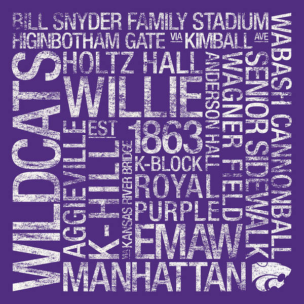 Photo Poster featuring the photograph Kansas State College Colors Subway Art by Replay Photos