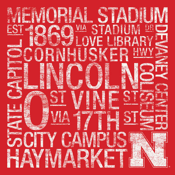 Photo Poster featuring the photograph Nebraska College Colors Subway Art by Replay Photos