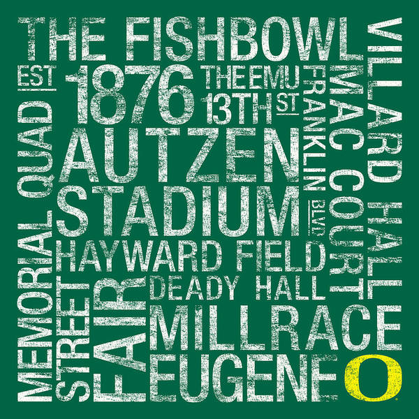 Photo Poster featuring the photograph Oregon College Colors Subway Art by Replay Photos
