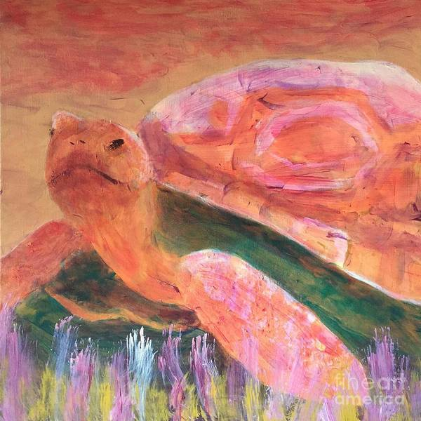 Art Portfolio Poster featuring the painting Tortoise by Donald J Ryker III