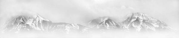 Panoramic Poster featuring the photograph Winter Storm Over The Sangre De Cristo Mountains by Terril Heilman