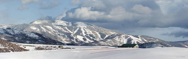 Storm Mountain Or Mount Werner Poster featuring the photograph Storm Mountain by Daniel Hebard