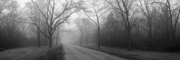 Landscape Poster featuring the photograph Into The Fog by David April