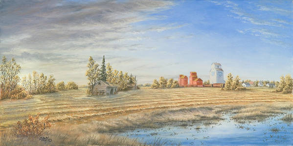 Landscapes Paintings Poster featuring the painting Early Morning Light by Dan Reid