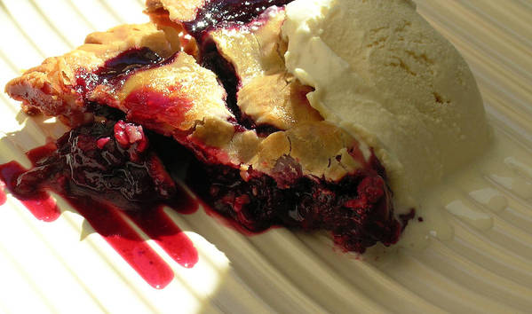 Food Poster featuring the photograph Blackberry Pie A La Mode by James Temple