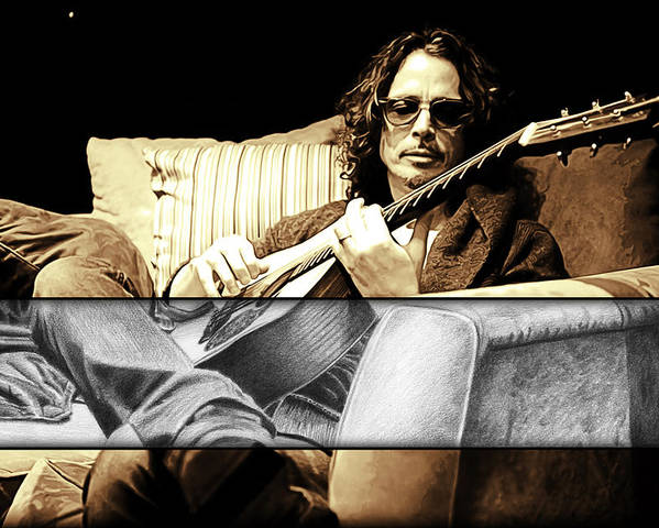 Chris Cornell Drawing by Jeffrey St Romain
