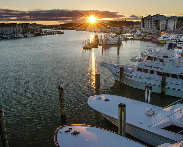 Rudee Inlet Marina Sunset by Mike O'Shell