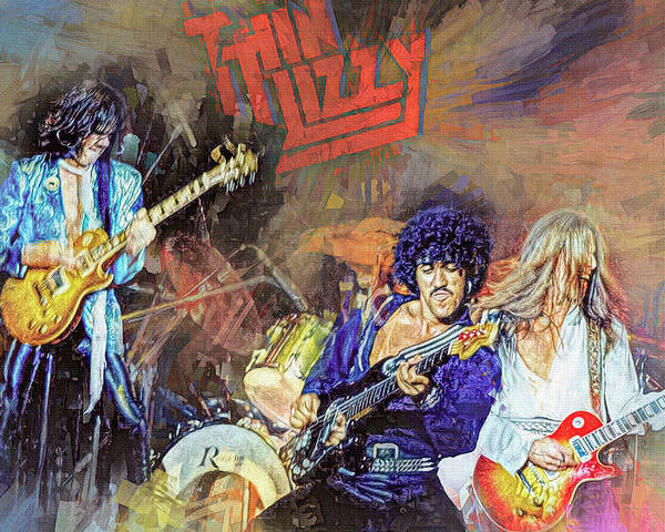 Thin Lizzy Live by Mal Bray