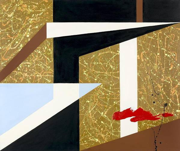 Abstract Poster featuring the painting Morning Harmony II by Ara Elena