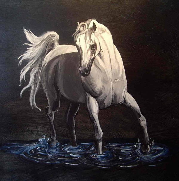 Equine Poster featuring the painting Midnight Prance by Glenda Smith