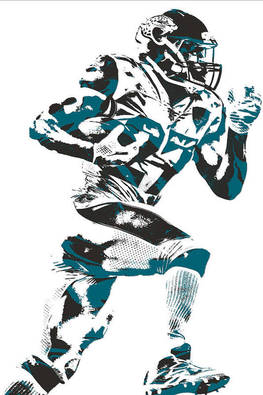 Leonard Fournette Jacksonville Jaguars Pixel Art 11 by Joe Hamilton