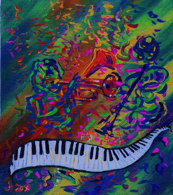 Jazz Painting Poster featuring the painting Saint Antony by Stephanie Cox