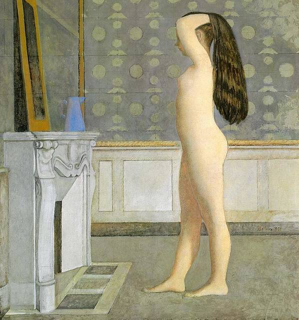 Figure in Front of a Mirror by Balthus