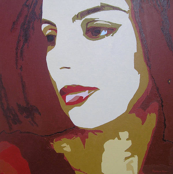 Portrait Poster featuring the painting Lost In Thought by Ricklene Wren