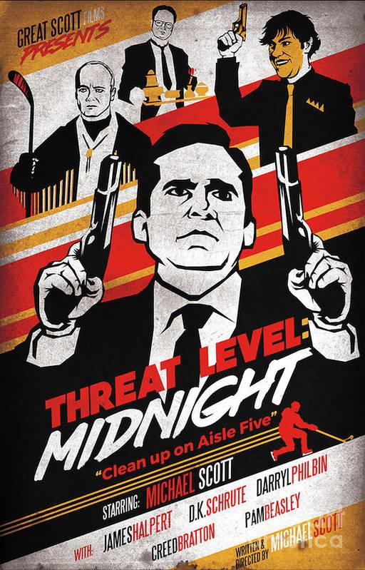 Threat Level Midnight Poster by Clarice C Heard
