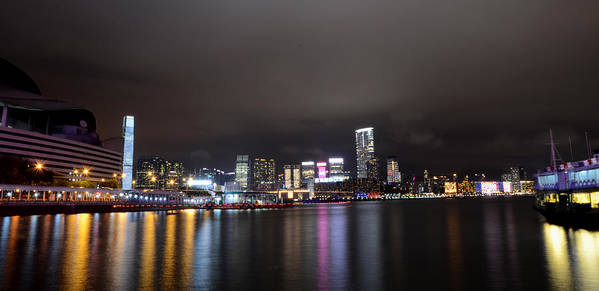 Kowloon Poster featuring the photograph Tsim Sha Tsui - Kowloon At Night by Enrique Rueda