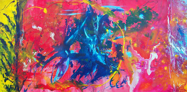 Abstract Paintings Poster featuring the painting L A G A R G O L A by Azul Fam