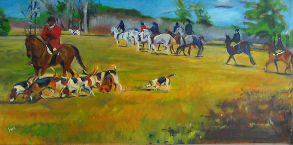 Fox Hunt Poster featuring the painting Fox Hunt by Kaytee Esser